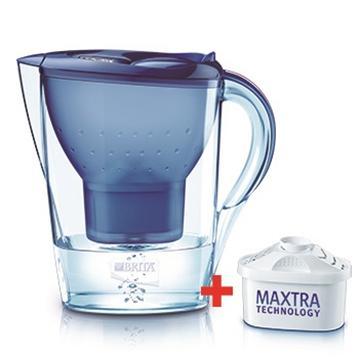 德國BRITA濾水壺-馬利拉(藍)(馬利拉藍贈乙芯含二芯)