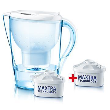 德國BRITA濾水壺-馬利拉(白)(馬利拉白超值包含三芯)