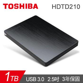 【1TB】TOSHIBA 2.5吋 SlimII-黑(HDTD210AK3E1)
