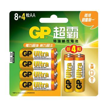 GP超霸3號特強鹼性電池8+4入(AA8+4)
