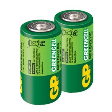 GP超霸1號特級碳鋅電池2入(D2)