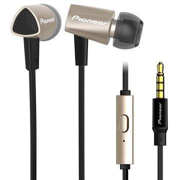 Pioneer SE-CL31S耳道式耳機-黑金(SE-CL31S-NK)