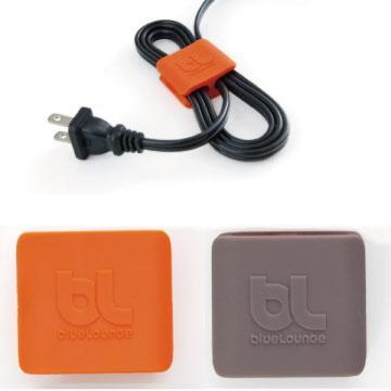 Bluelounge 中型整線夾-橘/深灰(BL-CW-CLIP-02)