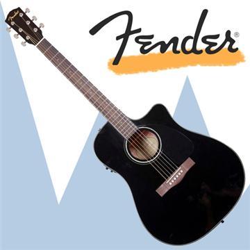 FENDER 電木吉他(CD-60CE BK)