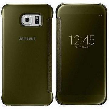 SAMSUNG S6 原廠全透視感應皮套 -金(EF-ZG920BFEGWW-金)