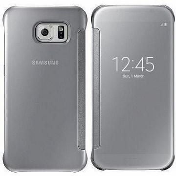 SAMSUNG S6 原廠全透視感應皮套 -銀(EF-ZG920BSEGWW-銀)