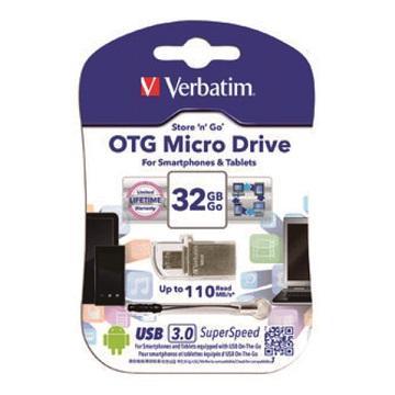 威寶Verbatim OTG 3.0 MICRO 32G隨身碟(49826)