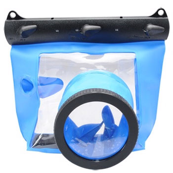 Kamera GQ-518M 相機防水袋(鏡頭10cm)-藍(GQ-518M)