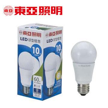 東亞10W LED全電壓球型燈泡-晝光色(LLA012-10AAD)