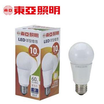 東亞10W LED全電壓球型燈泡-燈泡色(LLA012-10AAL)