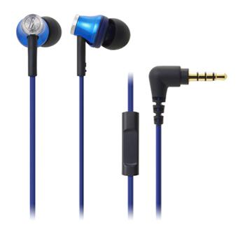鐵三角 CK330iS耳塞式耳機-藍(ATH-CK330iS BL)