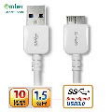 amber 三星Note 3/S5 USB3.0傳輸線/快充線(MUB-301)