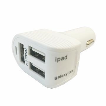 ZBAND USB3孔6A車用快充器-白(CLA3USB6AW)