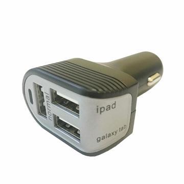 ZBAND USB3孔6A車用快充器-黑