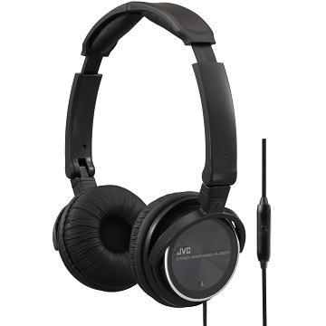 JVC HA-SR500立體聲摺疊頭戴式線控耳機-黑(HA-SR500-B)
