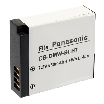 Kamera for Panasonic DMW-BLH7 鋰電池(DMW-BLH7 高品質鋰電池)