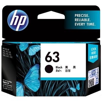 HP 63 黑色墨水匣