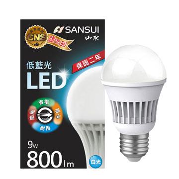 山水 9W 全電壓LED燈泡(白光)(MA2W06-9)