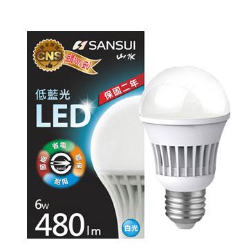 山水 6W 全電壓LED燈泡(白光)(MA2W04-6)