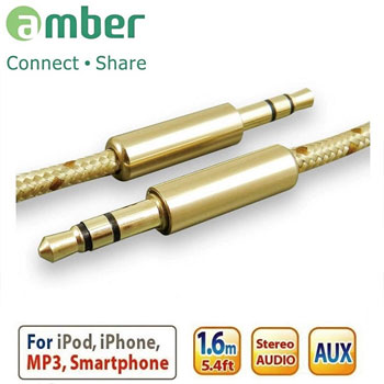 amber 3.5mm 音源訊號線-1.6 米(AX03)
