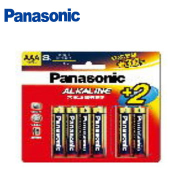 國際牌大電流鹼性電池4號8+2大卡超值包(LR03TTS/8B-R)