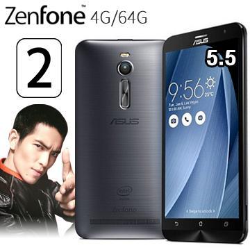 華碩ZenFone2 5.5吋FHD多核LTE手機4G/64G灰(ZF2 5.5吋4G/64G灰(送膜))