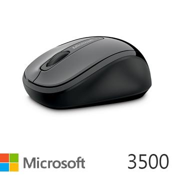 Microsoft 無線行動滑鼠3500-灰黑(GMF-00006)