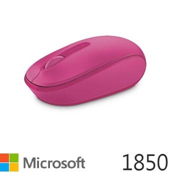 Microsoft 無線行動滑鼠1850-桃花粉(U7Z-00066)