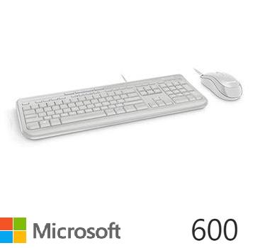 Microsoft 標準滑鼠鍵盤組 600-白色(APB-00020)