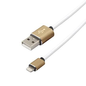 【1M】QPNP Apple授權Lightning充電傳輸線-白金(QAPULG1M)
