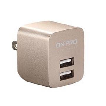 ONPRO USB雙埠電源供應器-金(UC-2P01-G)