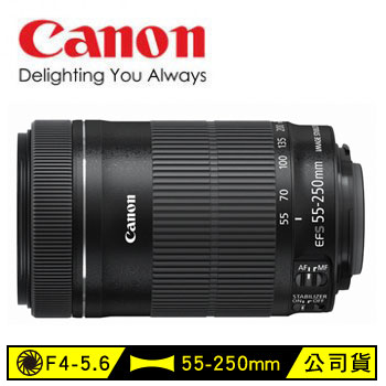 Canon EF-S 55-250mm單眼相機鏡頭(EF-S 55-250mm IS STM)