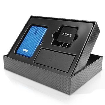 【9000mAh】Kamera T9000 行動電源禮盒組-藍(T9000+SP-EX)