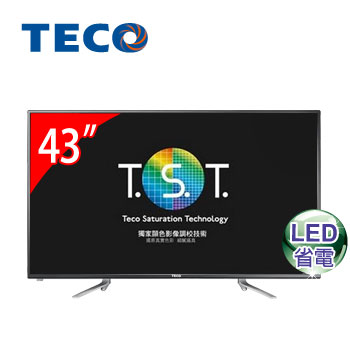 【福利品】 東元 43型低藍光LED液晶顯示器(TL4302TRE(視157631))