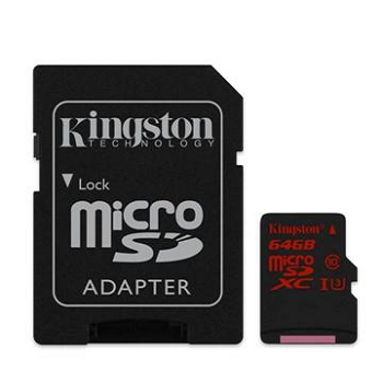 【U3】金士頓 Micro SD 64G 極速記憶卡(含轉卡)(SDCA3/64GB)