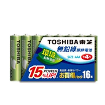 東芝無鉛綠4號電池16入