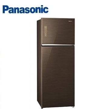 Panasonic 422公升玻璃ECONAVI雙門變頻冰箱(NR-B427TG-T(翡翠棕))