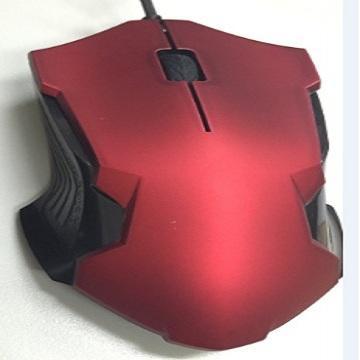 Amice天翼鼠有線光學滑鼠-皮革紅(AMS-1501-URD)
