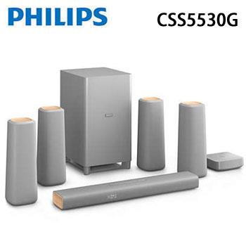 PHILIPS NFC/藍牙5.1聲道微型劇院(CSS5530G)