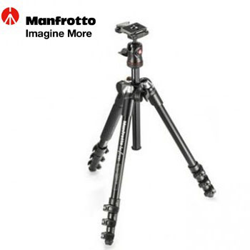 Manfrotto BeFree 旅行反摺腳架套組-黑(MKBFRA4-BH)