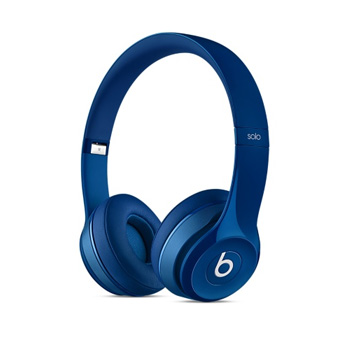 【展示品】Beats Solo 2 耳罩式耳機-光面藍色(MHBJ2PA/A(Demo))