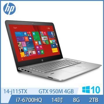 HP Ci7 GTX950M 電競獨顯 Win 10 筆記型電腦(14-j115TX)