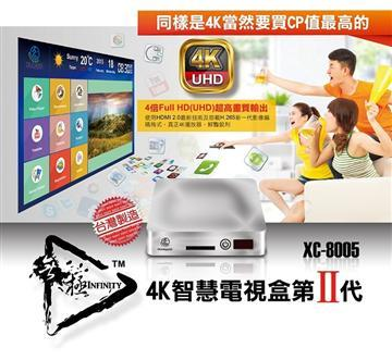 Honeywld 安卓4K UHD四核心智慧電視盒(XC-8005)