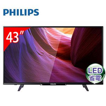 PHILIPS 43型液晶顯示器+視訊盒(43PFH5200)