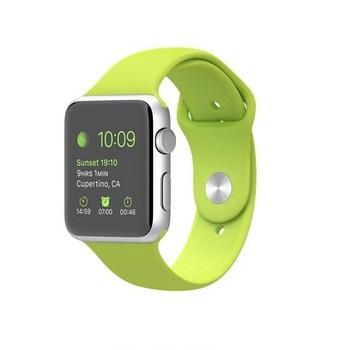 【42mm】Apple Watch Sport /銀色鋁金屬/綠色運動錶帶 MJ3P2TA/A()