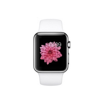 【38mm】Apple Watch 白色運動 / 不鏽鋼 MJ302TA/A