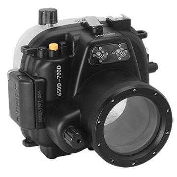 Kamera For Canon 650D / 700D (18-55mm) 潛水殼-黑(FOR EOS 650D / 700D)
