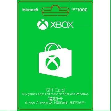 卡片-1000元 Microsoft XBOX R15 禮物卡