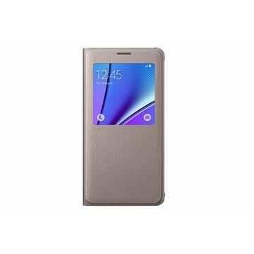 SAMSUNG Galaxy Note 5透视感应皮套-金(EF-CN920PFEGWW)