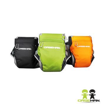【免運費】Caseman 卡斯曼 AW02-S 時尚三角腰包 相機包 休閒包 (附防雨罩, 公司貨)